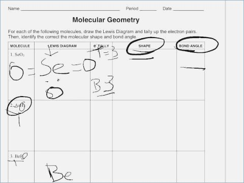 Molecular Geometry Worksheet Answers – Webmart Me