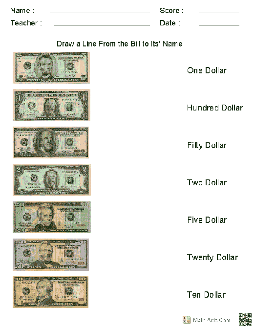 Money Identification Worksheets Worksheets For All