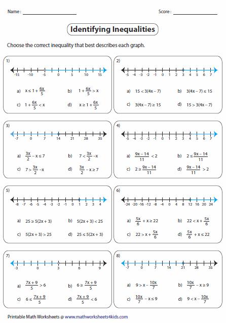 Multi Step Inequalities Worksheets