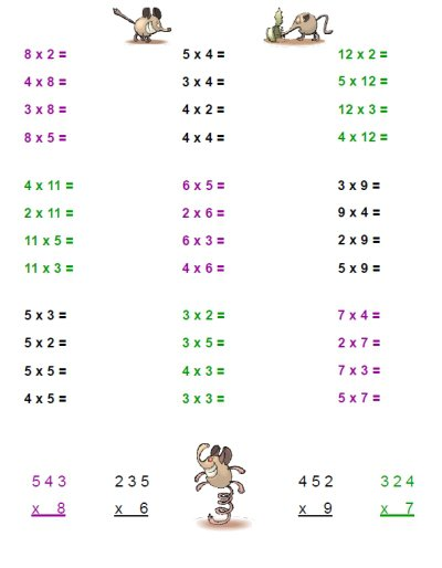 Multiplication Worksheets » Math Multiplication Worksheets Grade 5