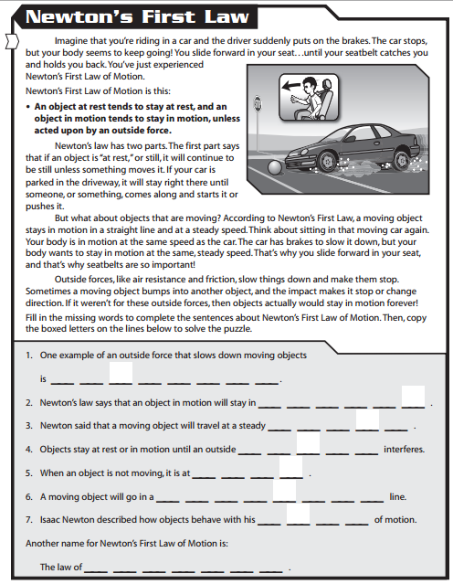 Newton S Second Law Of Motion Worksheet Answers Worksheets For All