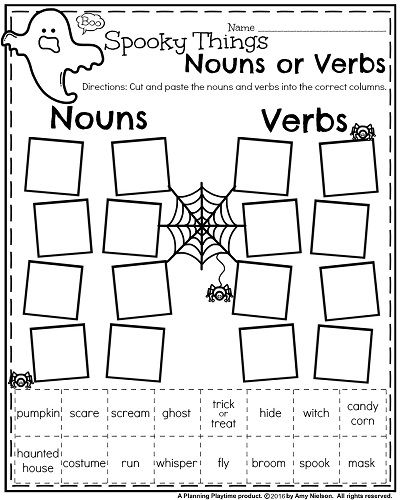 Noun And Verb Worksheets For 1st Grade