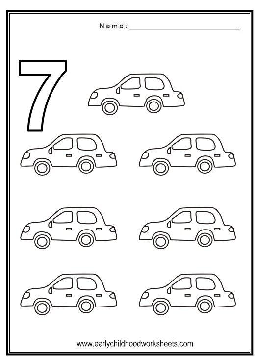 Number 7 Worksheet For Preschool Worksheets For All