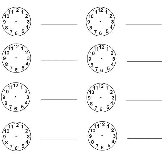 Number Names Worksheets » Blank Clock Faces
