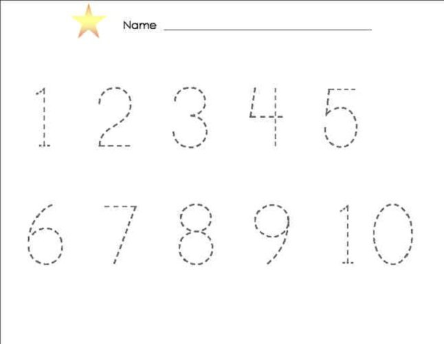 Number Tracing Worksheets 1 10 Worksheets For All
