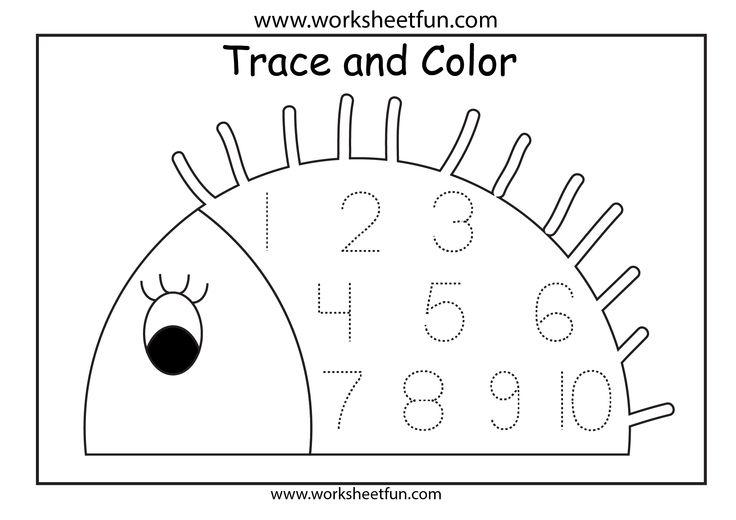 Number Worksheets For Pre Kindergarten