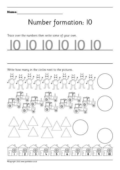 Number Worksheets Number Worksheets And Printables For Primary