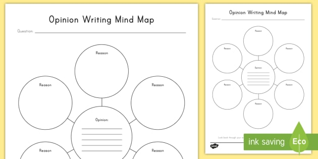 Opinion Writing Mind Map Worksheet   Activity Sheet