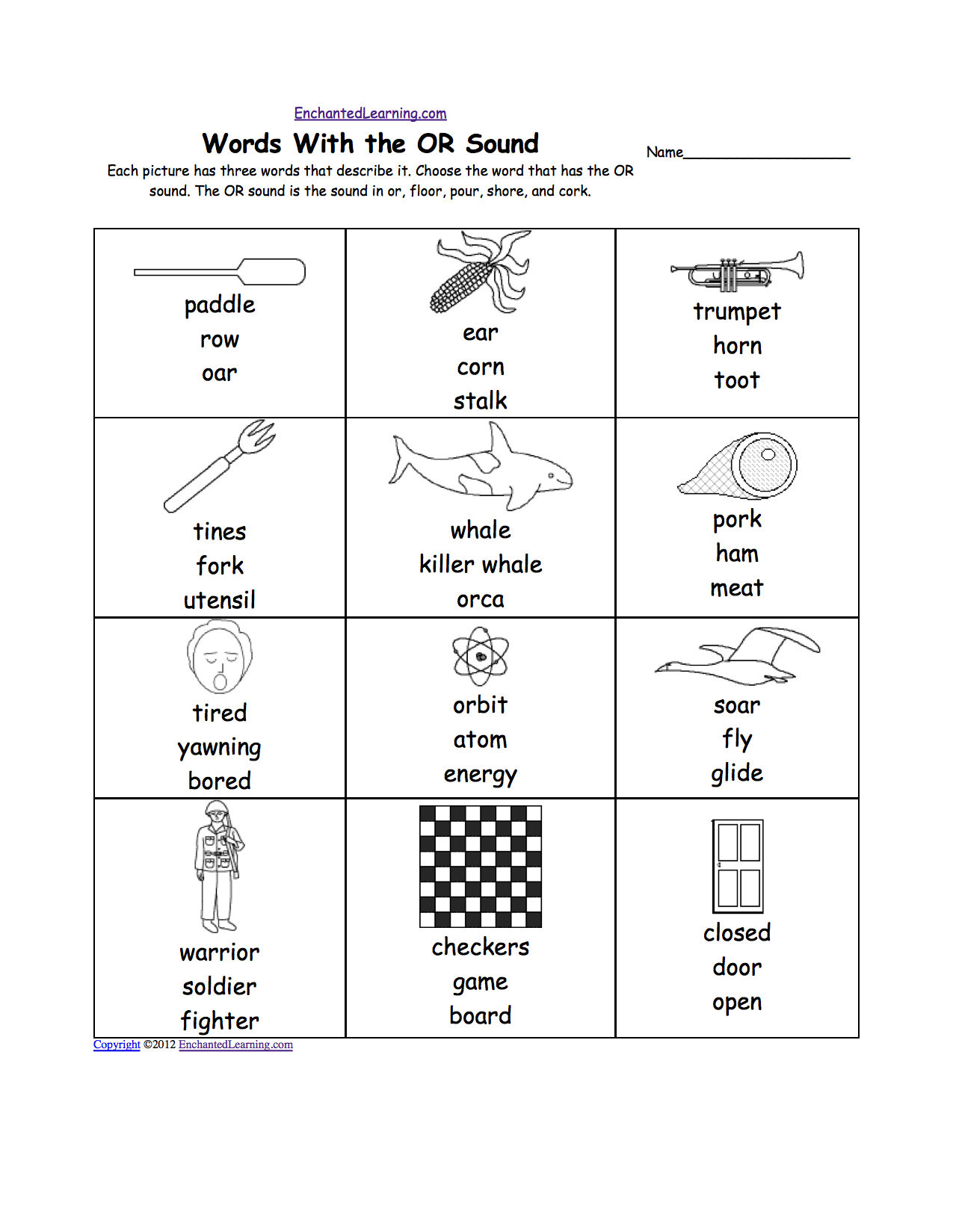 Or Words Phonics Worksheet The Best Worksheets Image Collection