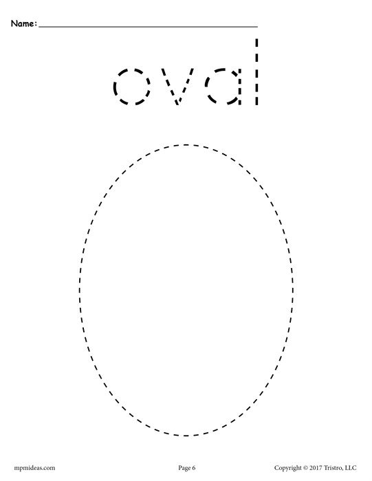Oval Tracing Worksheet Worksheets For All