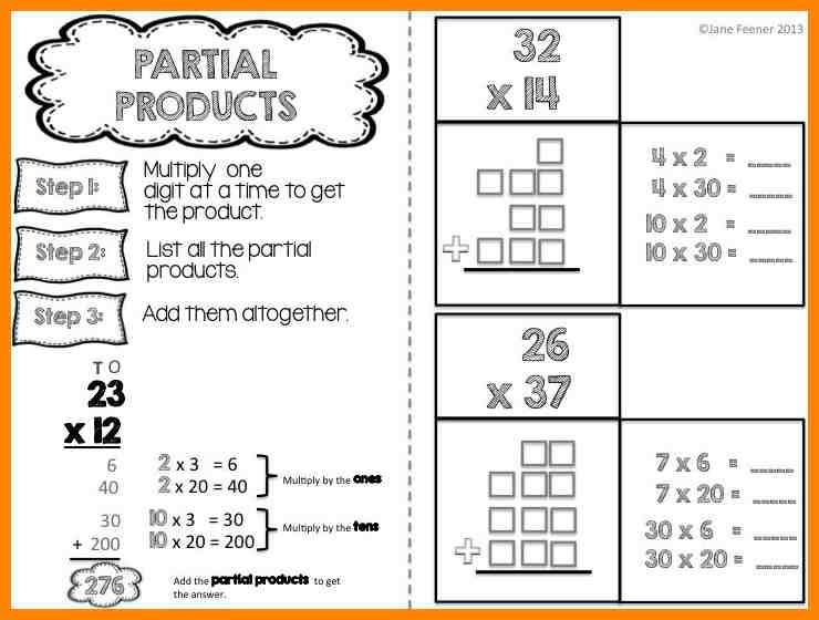 Partial Products Worksheets Worksheets For All