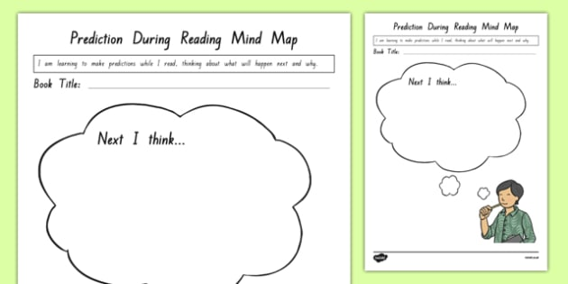 Prediction During Reading Mind Map Worksheet   Activity Sheet