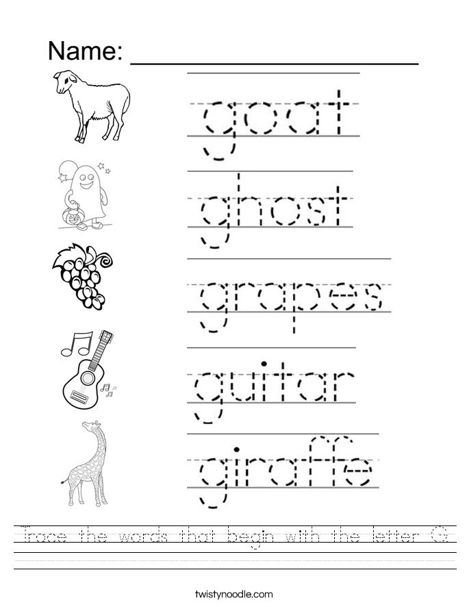 Preschool Letter G Worksheets