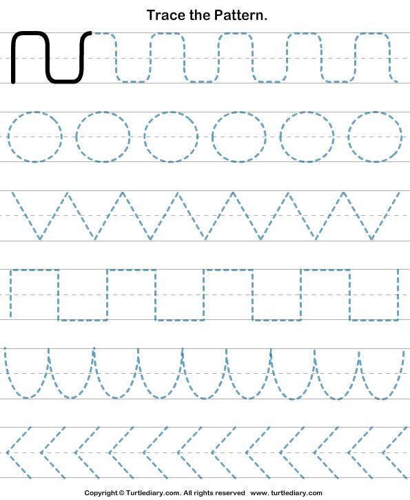 Preschool Tracing Worksheets Pattern Tracing Worksheet Turtle