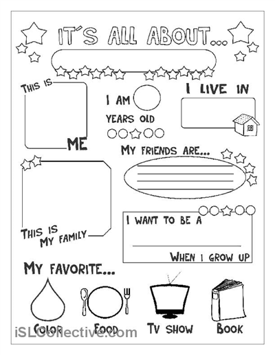 Printable All About Me Worksheets Worksheets For All