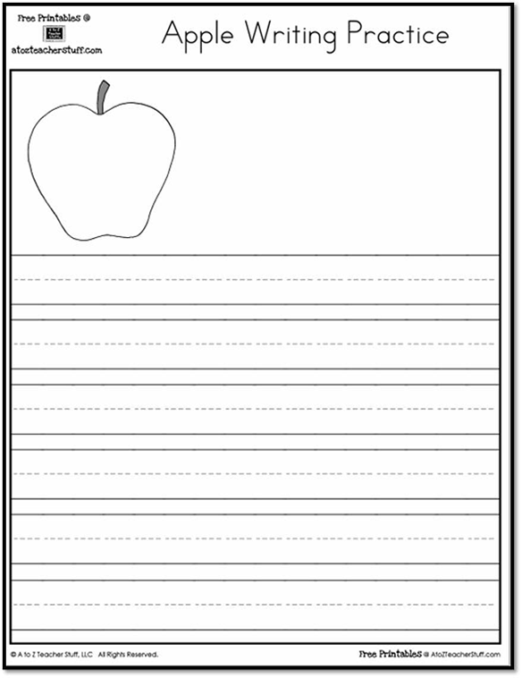 Printable Apple Writing Practice