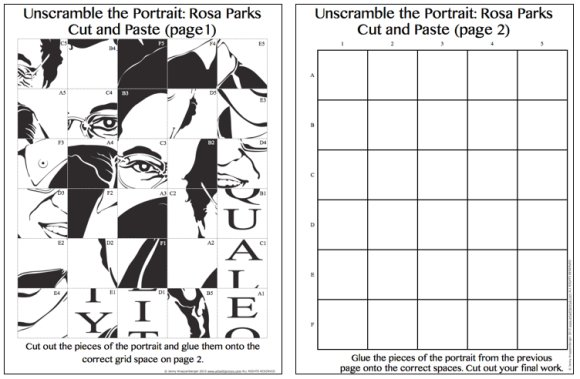 Printable Art Activities Rosa Worksheets 001 580×379