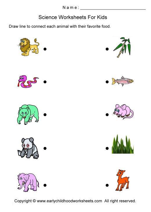 Printable Worksheets For Kindergarten Science