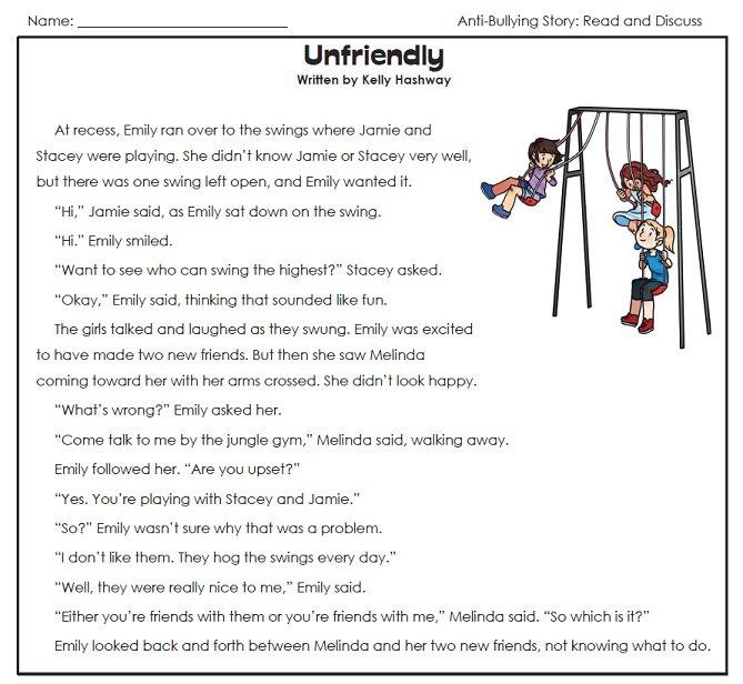 Printables  Bullying Worksheets For Kids  Michaelbaronbooks