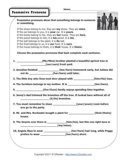 Pronoun Worksheet For 2nd Grade Worksheets For All