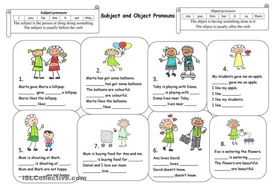 Pronouns Worksheets Worksheets For All