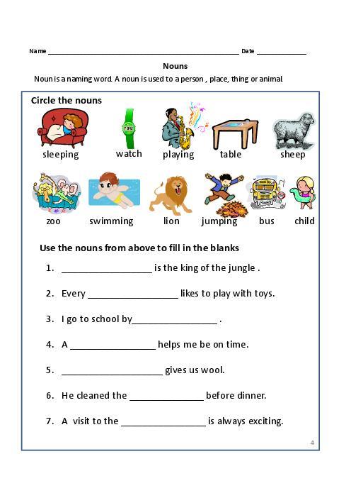 Proper Noun Worksheet Grade 1