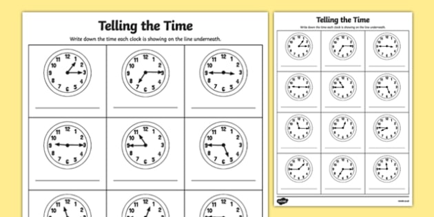 Quarter Past And Quarter To Times Worksheet   Activity Sheet