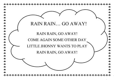 Rain Rain, Go Away! Worksheet