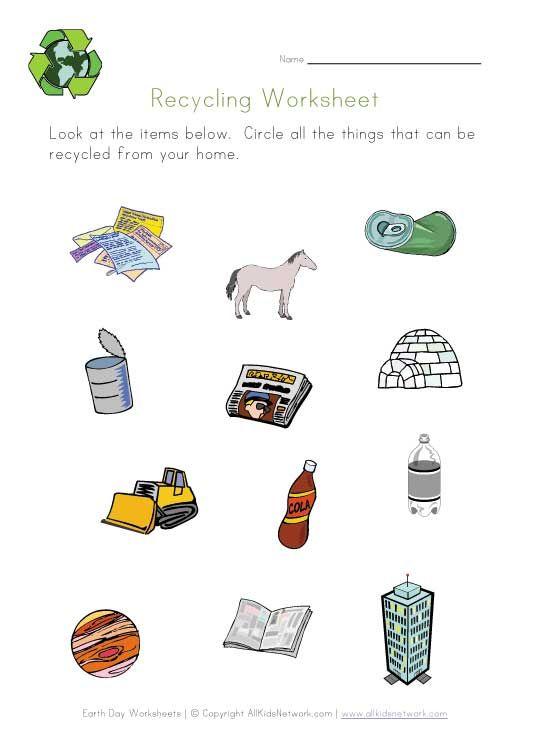 Recycling Printable