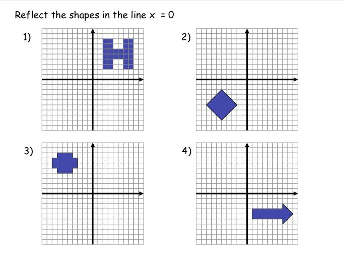 Reflection Math Worksheets Worksheets For All