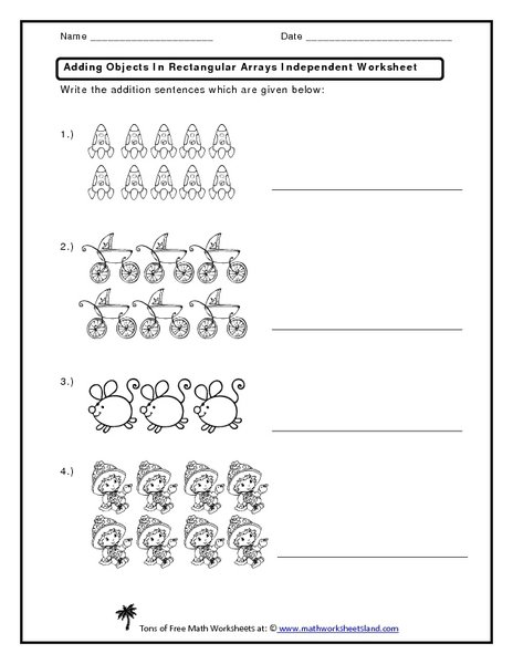 Repeated Addition Array Worksheets Worksheets For All