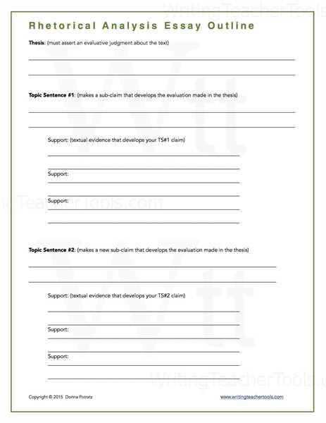 Rhetorical Analysis Worksheet