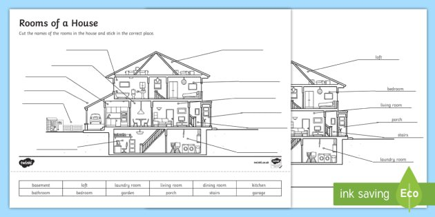 Rooms Of A House Worksheet   Activity Sheet