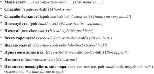 Russian For Dummies Cheat Sheet