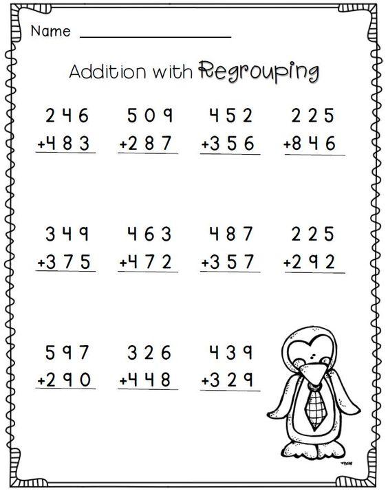 Second Grade Regrouping Math Worksheets