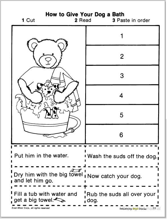 Sequence Worksheets 2nd Grade