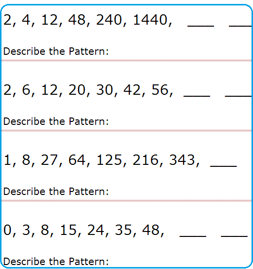 Sequences And Series Worksheet Series And Sequences Worksheets