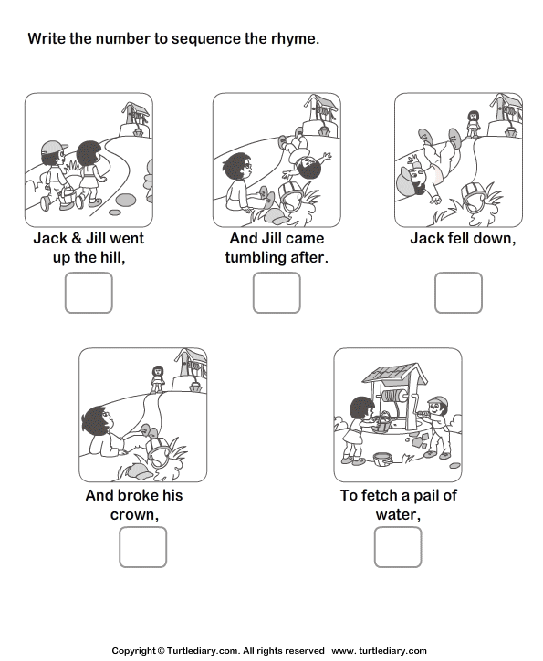 Sequencing Story Worksheets