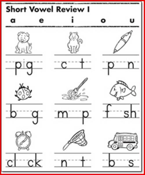 Short Vowels Worksheets For Grade 1