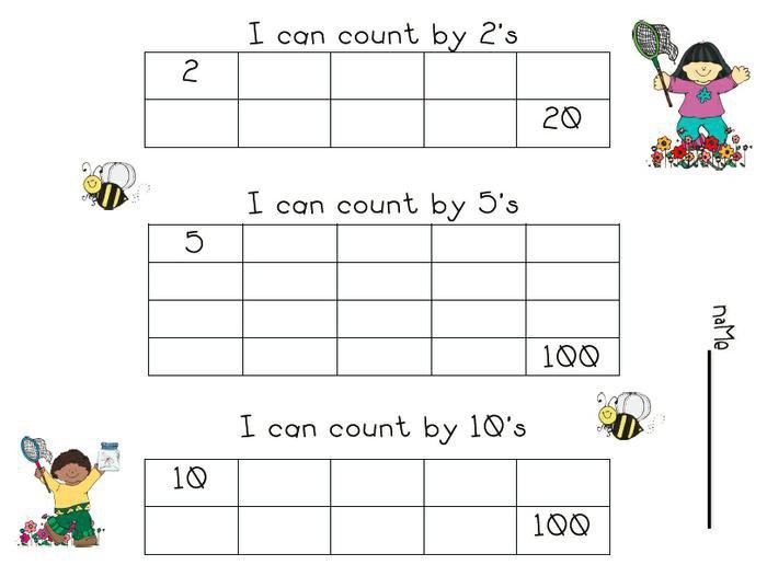 Skip Counting Worksheets Springtime Skip Count Download