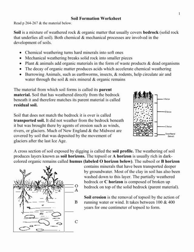 Soil Formation Worksheet Answers 2 Erosion And Deposition