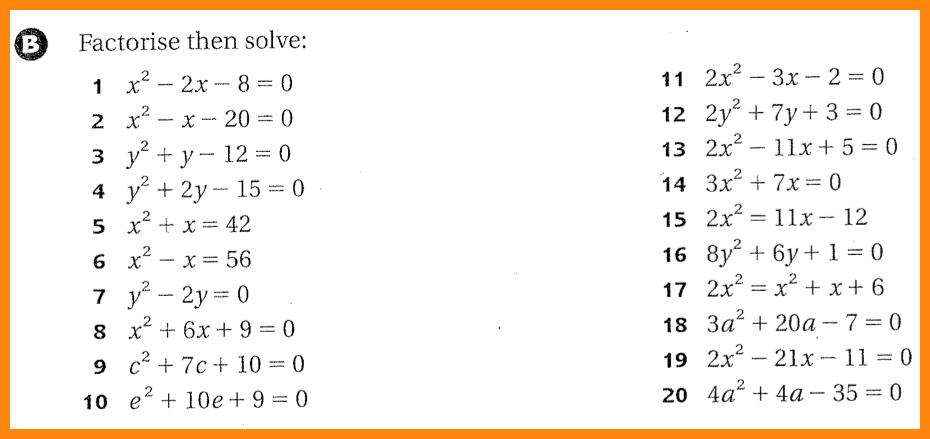 Solving Quadratic Equations Worksheet 5 Quadratic Equation