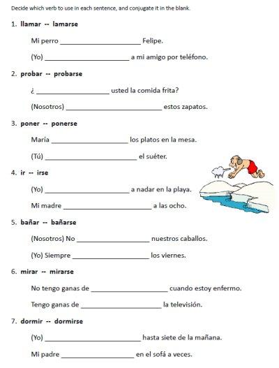 Spanish 1 Worksheet