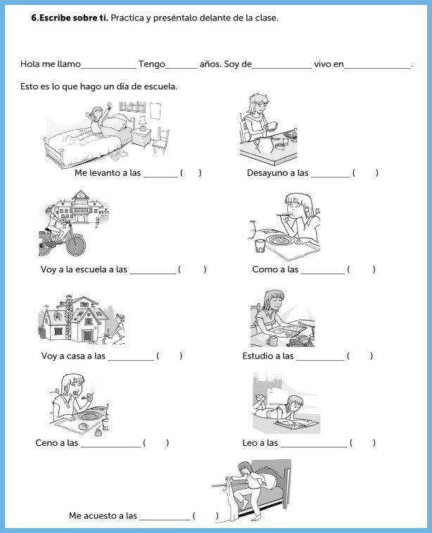 Spanish Worksheets Spanish Worksheets For Interactive Learning