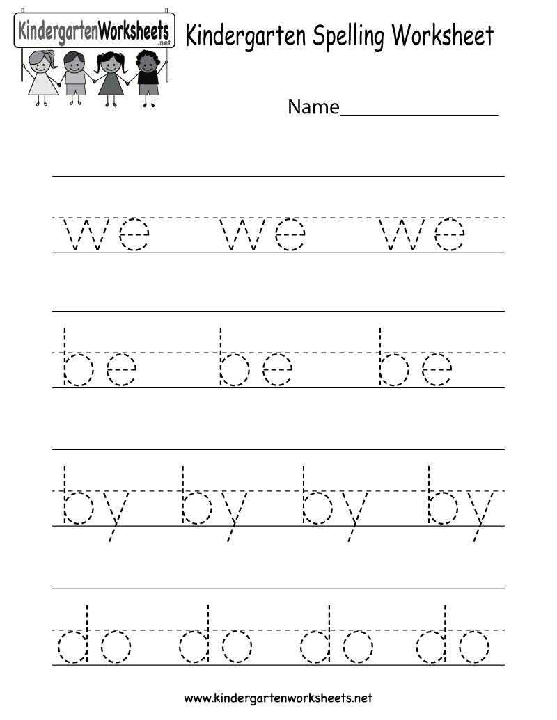 Spelling Worksheets For Kids The Best Worksheets Image Collection