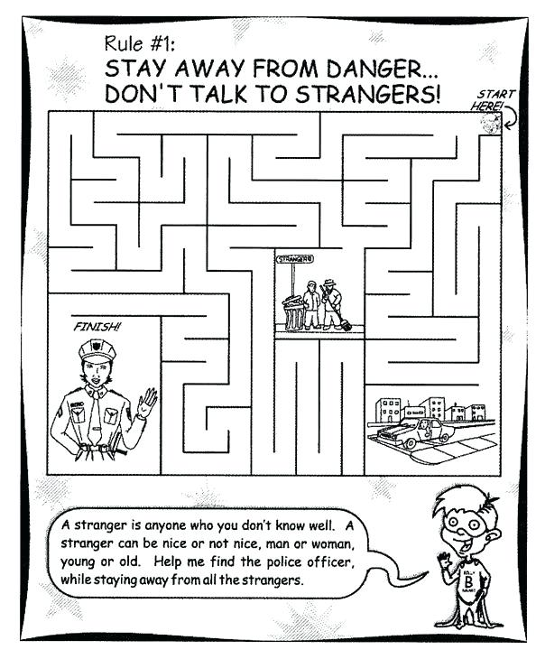 Stranger Danger Coloring Pages Amazing What Is A Safe Place Free