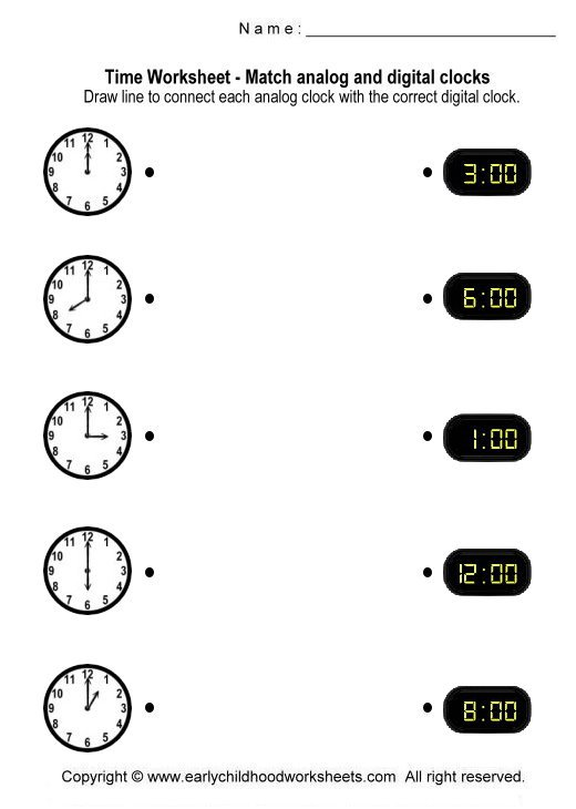 Telling Time Digital Clock