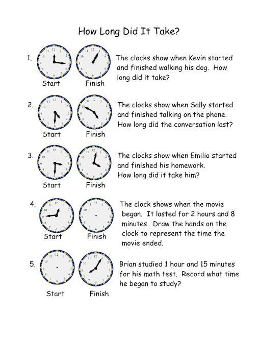 Telling Time Worksheet Grade 3 Worksheets For All
