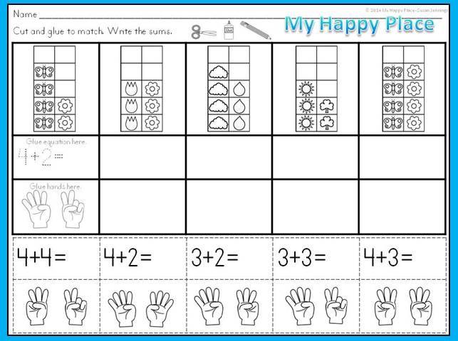 Ten Frame Addition Worksheets First Grade Worksheets For All