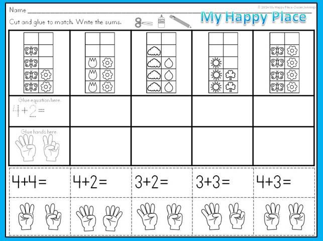 Ten Frame Math Worksheets Awesome Kindergarten Cut And Paste Math